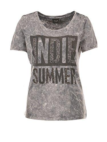 VILA Damen T-Shirt, grau