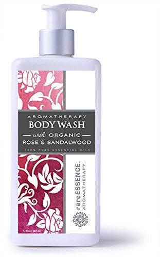 rareEssence Aromatherapy Body Wash Rose & Sandalwood, 13 fl oz