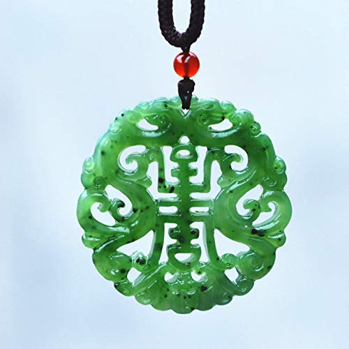 Chinese Jade Carved Dragon - 100% Natural HETIAN Nephrite Carved Chinese Dragon Pendant Necklace Lover's jades Jewelry Free Rope Chain