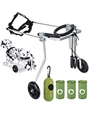 Dog Wheelchair for Back Legs, Dog Wheelchair Small with Dog Waste Bags, Adjustable Dog Wheels Pet Weel Chair for Hind Legs Rehabilitation