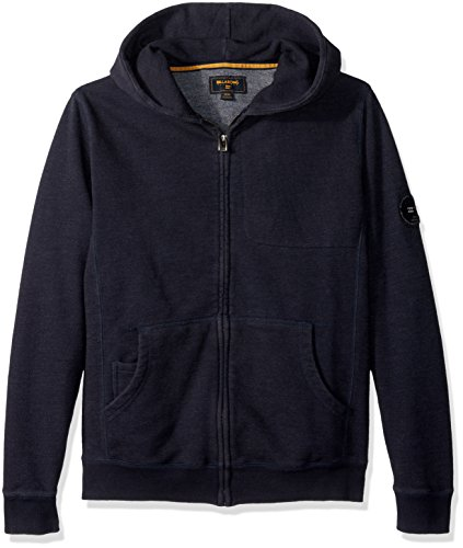 Embroidery Navy Blue Hoodie - 4