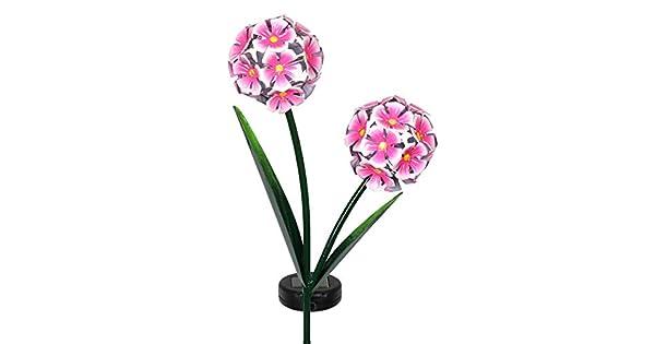 Amazon.com: Exhart hortensias de jardín con energía solar de ...