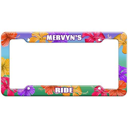 tropical-hibiscus-license-plate-frame-ride-names-male-mas-mi-mervyn
