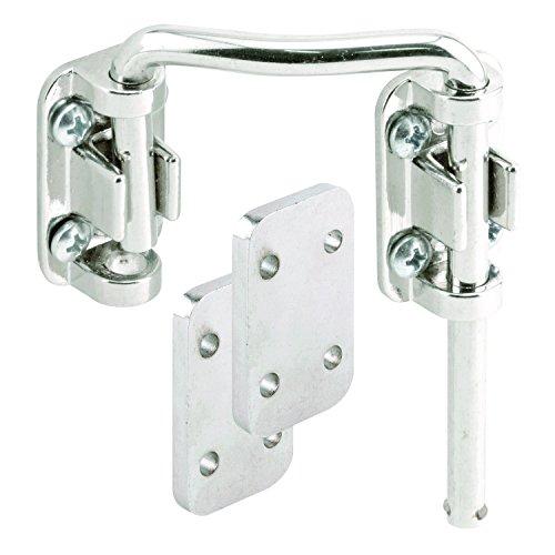 Defender Security U 10536 Steel Nickel Plated Right Hand Sliding Door Loop Lock, (Nickel Bar Pin)