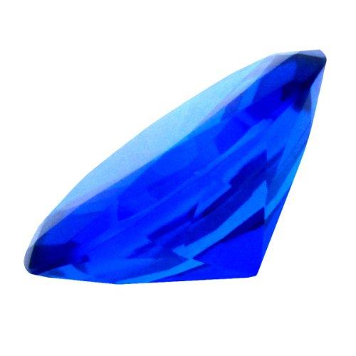 Ruby Blue 60 Mm Cut Glass Crystal by IIV