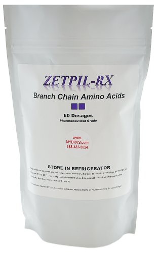 Zetpil Branched Chain Amino Acid (BCAA) Suppositories, No Degradation Like Powder or Capsules, Proprietary Blend of Leucine, Isoleucine, Valine and Threonine, 60 Count by Zetpil