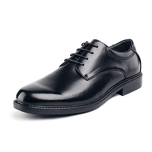 Bruno Marc Men's Downing-02 Black Leather Lined Dress Oxfords Shoes - 15 M US