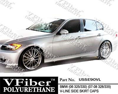 2006-2010 BMW 3-Series (E90) 4dr Vfiber Urethane Body Kit V-LINE Side (Vfiber Side Skirts)