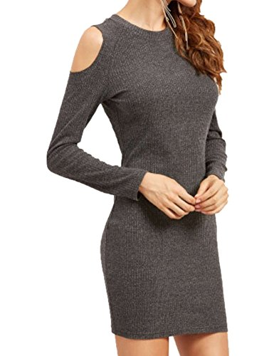 Women's Long Sleeve Slim Fit Shoulder Off Sexy Party Stretch Bandage Dress