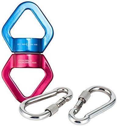Swing Spinner, teroys aleación de aluminio escalada giratorio 360 giratorio, giratorio de Swing para colgar accesorios para giratorio mosquetón y ...