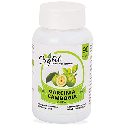 Orgfit Natural Garcinia Cambogia Extract Supplement for Men and Women with 60% HCA 800 mg – 90 Capsules