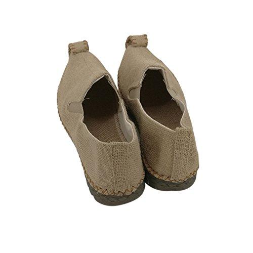 Meijunter Männer Retro Beige Leinen Rope Chinesische Schuhe Pointed-toe Flache Schuhe Outdoor Sandalen 41YPnptt6
