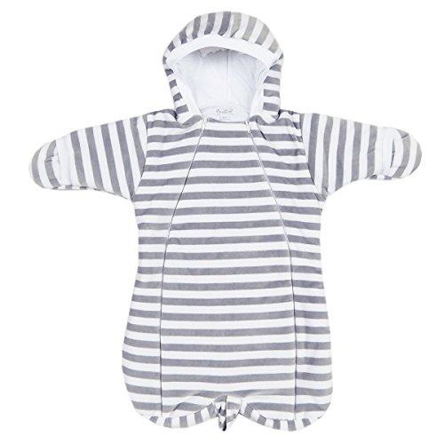 Kissy Kissy Unisex Baby Mini Pets Velour Stripe Bunting - Silver-One Size -
