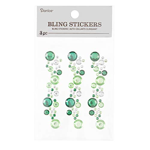 Darice 30053433 Bling Stickers Green/Clear