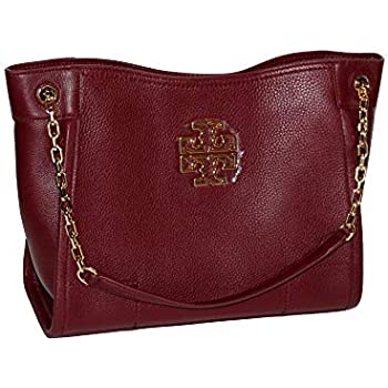 6444c45d7938 Amazon.com  Tory Burch Britten Small Slouchy Tote Bag In Black 8170 ...