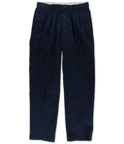 Fit Double Pleat Pant (Polo Ralph Lauren Mens Classic Fit Double Pleat Chino Pants Navy 32/32)