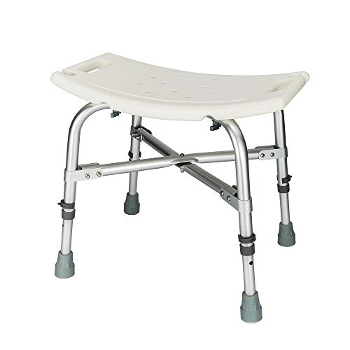 Mefeir 450LBS Medical Shower Chair Bath Stool Transfer Bench Seat,Upgrade Framework SPA Bathtub Chair, Heavy Duty 450LBS No-Slip Adjustable 6 Height,FDA Approved ()
