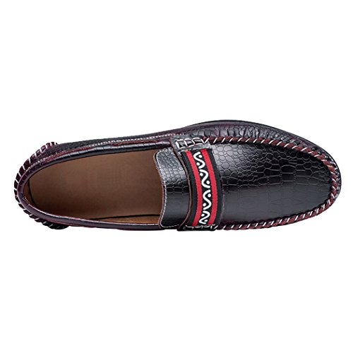 Boat Shoes Leather Casual Genuine Moccasins Ons Lorence Loafers Burgandy Slip Handcraft Sun Penny Mens Driving fFHWTq