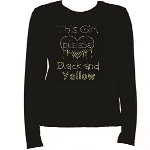 Rhinestone PITTSBURGH FOOTBALL This Girl BleedsT Shirt LR ZN8Y from Jeannies Rhinestone World
