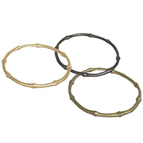 Michael Michaud Bamboo Bangle Bracelet (Set of 3) for Silver Seasons… (Bangle Silver Bracelet Bamboo)