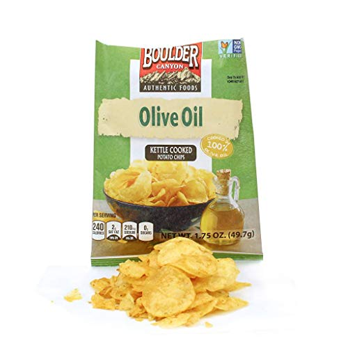 Boulder Canyon Olive Oil/Sea Salt Kettle Chip 1.75 oz., Pack of 8