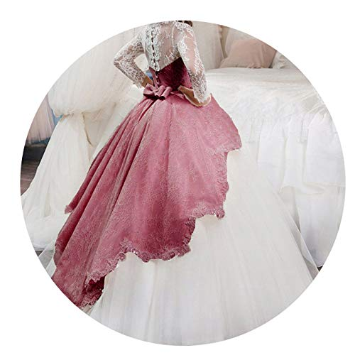 Kids Bridesmaid Flower Girls Dresses for Party and Wedding Dress Girls Easter Children Pageant Gown Girls Princess Dress,Wine Red,7 (Cultural Dress Up Clothes)