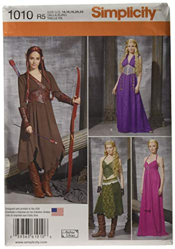 Simplicity Women's Elf Halloween, Ren Faire and Cosplay Costume Sewing Pattern, Sizes 14-22 ()