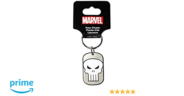Plasticolor 004361R01 Marvel Punisher Metal Keychain