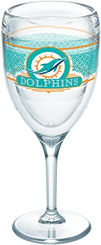 Tervis 1227694 NFL Miami Dolphins Select Tumbler with Wrap 9oz Wine Glass, Clear Miami Glass