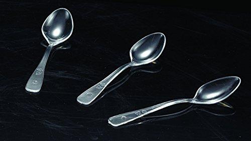 Pack of 250 Mini Plastic Spoons