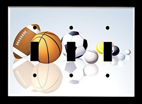 gle) Light Switch Plate Cover - Sports Recreation - Sport Balls ()