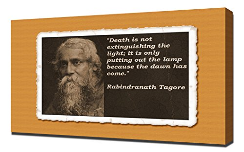 Rabindranath Tagore Quotes 3 - Canvas Art Print