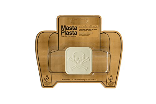 (MastaPlasta Self-Adhesive Patch for Leather and Vinyl Repair, Pirate, Ivory - 2 x 2 Inch - Multiple Colors Available)