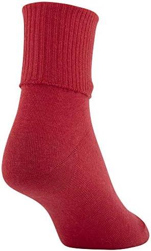 Gold Toe Women's Classic Turn Cuff Socks, 6 Pairs