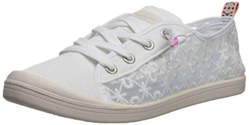 Sugar Women's Gadjet Laceless Slip-on Fashion Sneaker, White mesh lace, 9 Medium US - Fashion Sneakers Lace