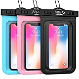 3 Pack Universal Waterproof Pouch Case with Lanyard Strap for iPhone X, 8/7/7 Plus/6S/6/6S Plus, Samsung Galaxy S9/S9 Plus/S8/S8 Plus/Note 8 6 5 4, Google Pixel 2 HTC