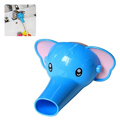 AStorePlus Kids Children Cute Faucet Handle Extender Sink Extender, Bule Elephant (Grande Bathroom Sink)