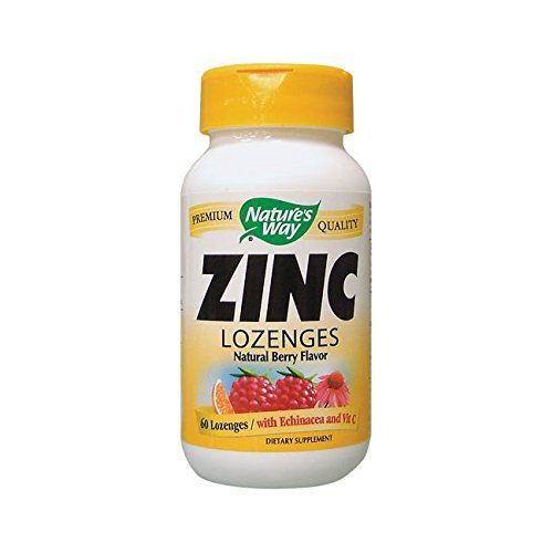 Nature's Way Zinc Lozenges Natural Berry -- 60 Capsules (Lozenges Zinc Vitamins)