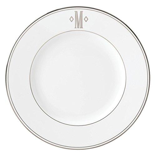 (Lenox Federal Platinum Block Monogram Dinnerware Dinner Plate, M)