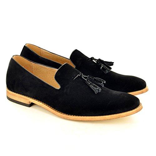 scarpe Da My foderato Perfect pelle nappa Pair in mocassini slip uomo on Suede Black 6w6Tq7pEx
