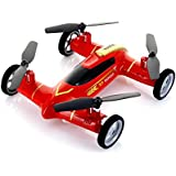 Syma X9 Fly Car 4 Channel 2.4Ghz RC Quadcopter - RED
