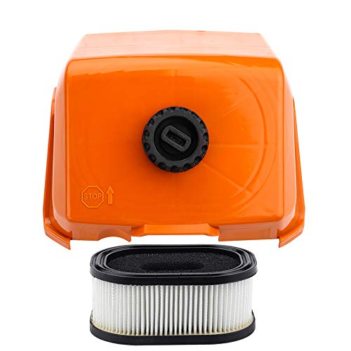 Air Filter with Cover Kit for Stihl 044 044W 044R 044C MS440 MS440 Parts Replace # 1128 140 1003, 0000 120 1654 Chainsaw (Engine 440)