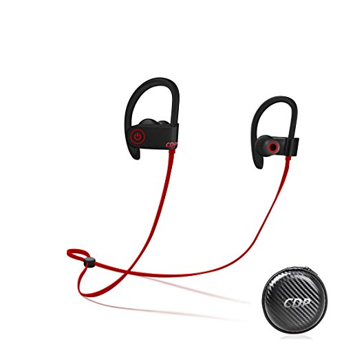 Sports Bluetooth Headphones, CDP Bluetooth Earphones Noise Cancelling,IPX7 Waterproof Headsets,8 Hrs Play, HD Stereo HiFi Sound Enhanced Bass,Running earphone with Mic for Sports,Driving,Gym.