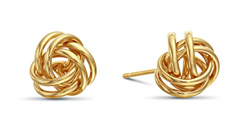 Yellow Gold Knot Earrings - 5