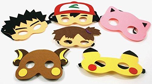Cartoon Party Masks Inspired Pokemon Childrens Birthdays Holidays