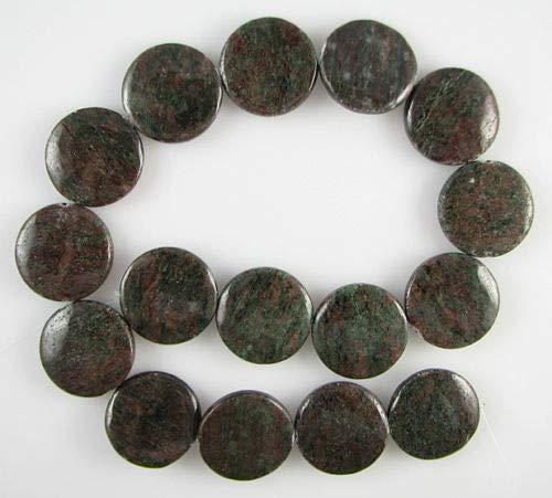 ShopForAllYou Design Making 25mm red Green Garnet Coin disc Beads 16