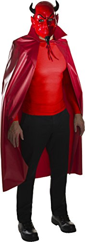 Devil Red Dress Costume (Rubie's Men's Scream Queens Devil Mask and Cape Set, Red, One Size)