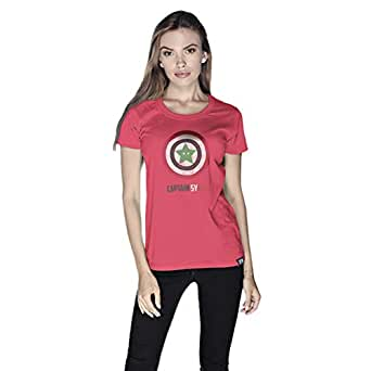Creo Captain Syria T-Shirt For Women - S, Pink
