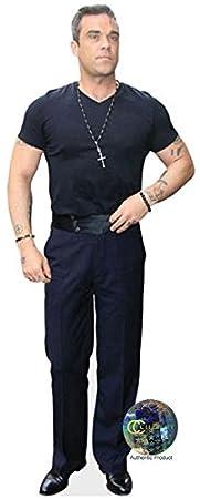 Casual Robbie Williams Pappaufsteller lebensgross