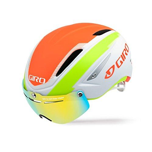 Giro Air Attack Shield Helmet – Matte White/Flame/Lime Medium Review